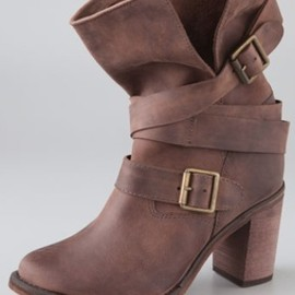 JEFFREY CAMPBELL - Jeffrey Campbell France Wrap Strap Boots
