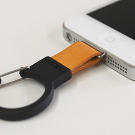 Poddities - Leather carabiner strap for iPhone 5