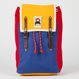 YKRA - YELLOW BLUE RED MATRA MINI with cotton strap