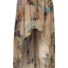 TOPSHOP - Floral Drop Back Maxi Skirt