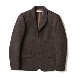 HEAD PORTER PLUS - TWEED JACKET BROWN