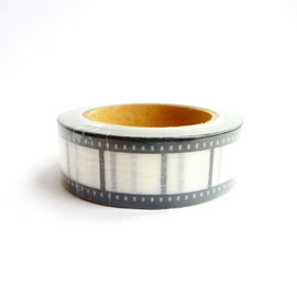 PinkPnines - Film Strip Washi Tape - Black and White 15mm