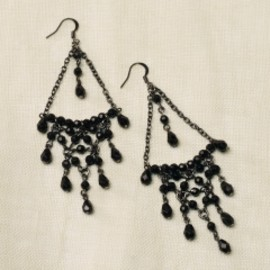 RUGBY RALPH LAUREN - Black Chandelier Earring