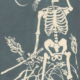 Crying Skelton with Sword in Hand