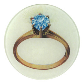 "John Derian - Diamond Ring 5 3/4"" Round Plate"