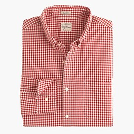 J.CREW - Secret Wash shirt in red gingham