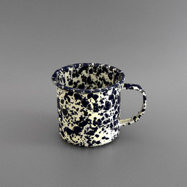 LABOUR AND WAIT - Marbled Enamel Mug Navy