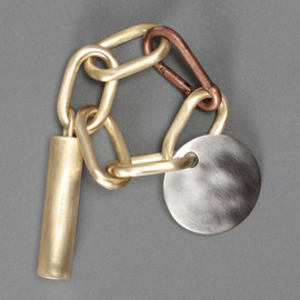 RICK OWENS - CHAIN BRACELET WITH A PLAQUE PENDANT