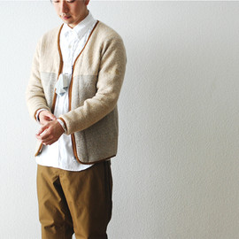 THE NORTH FACE PURPLE LABEL - WOOL FLEECE CARDIGAN
