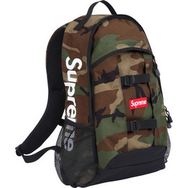 Supreme - Supreme Logo Backpack Woodland Camo