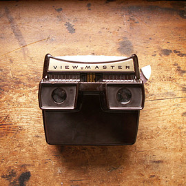 Sawyer's - Vintage Lighted Stereo Viewer Brown Bakelite Model F View-Master