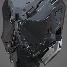 JOJO POST DIGI: HELMET, Cyberpunk, SteamPunk, Android, Robot,Military,Cyborg,Future,Mask
