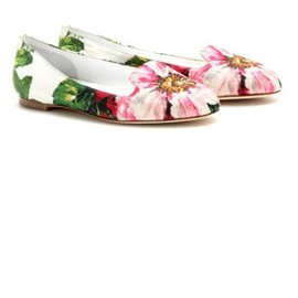 DOLCE&GABBANA - Floral flats shoes