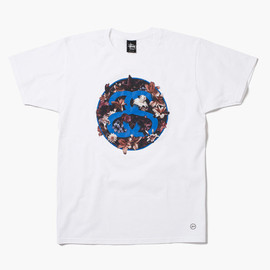 Stussy, fragment design - Flower Tee - White