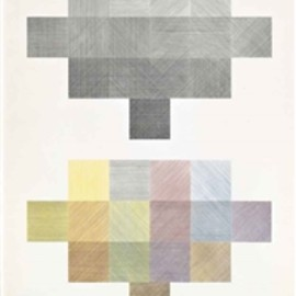 Sol Lewitt - Double Composite, Made of screenprint in colours