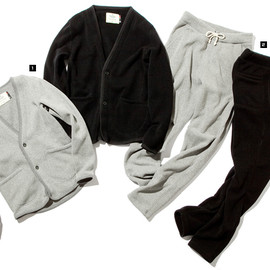 nonnative - AGENT CARDIGAN / STUDENT PANTS  POLARTEC® THERMAL PRO® by REIGNING CHAMP