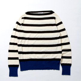 soe - border boat neck knit