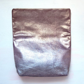 Gift Shop Brooklyn - O M B R E Leather Fold over Clutch. Metallic Pastels  Leather Envelope Clutch.