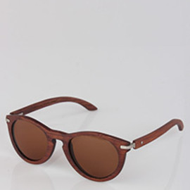Waiting For The Sun - Waiting For The Sun Une Cognac Wooden Sunglasses