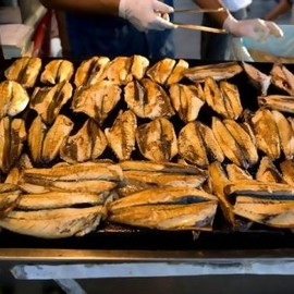 Turkish - Grilled fish in Istanbul