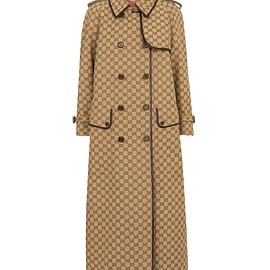 GUCCI - GG cotton-blend trench coat