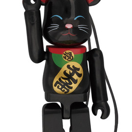 MEDICOM TOY - Happy BE@RBRICK 招き猫 黒