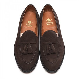 ALDEN - 666 SUEDE TASSEL MOCCASIN / BROWN