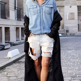 style icon - Anja Rubik | Paris Fashion Week. In front of Isabel Marant 2011.