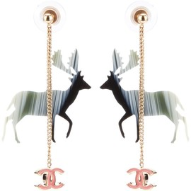 CHANEL - reindeer earrings