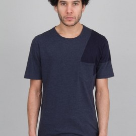 folk - Pocket Shadow Tee - Dusk Blue / Navy 01