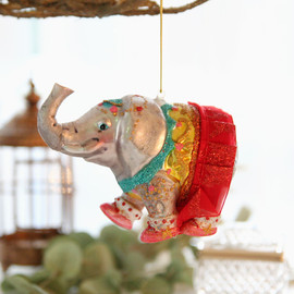 Circus Elephant Ornament (Red Tutu)