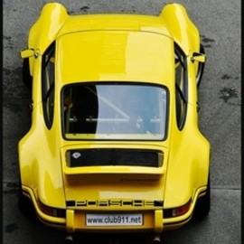 Porsche - yellow 911turbo