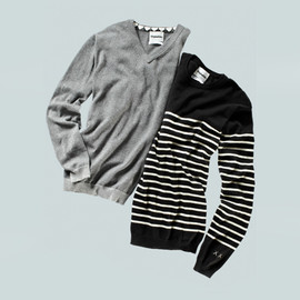 OriginalFake - Border Crew Neck Knit