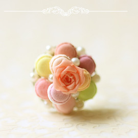 Luulla - Dessert Jewelry - Pastel French Macaron Ring