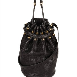 ALEXANDER WANG - Diego In Black Pebble Lamb With Antique Brass Thumb