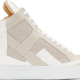 MM6, Maison Martin Margiela - White & Beige Colorblock High-Tops