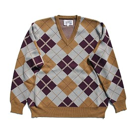 PEEL&LIFT - argyle jumper  color / yellow ochar