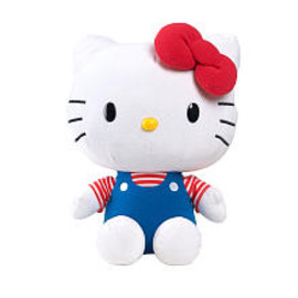 Sanrio USA - Hello Kitty Large Plush - Classic Blue Overall