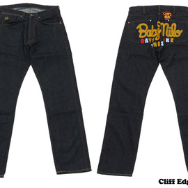 A BATHING APE - 1997 TYPE-01 MILO CHAMPION MULTI DENIM PANTS