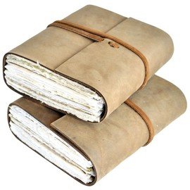Lemongrass Leather Journal with Artist Papers