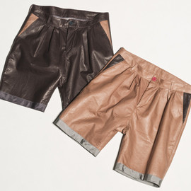 CYDERHOUSE - BONDING LEATHER SHORT PANTS