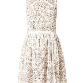 RED Valentino - Owl crochet dress