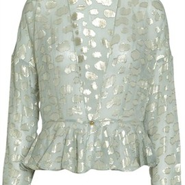 Stine Goya - Petal silk jacket with gold