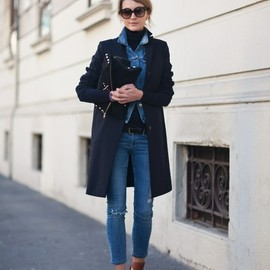 denim on denim plus a winter coat