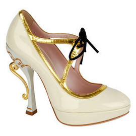 miu miu - Tea Cup Mary Jane Platform pumps