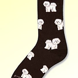 Critter Socks - Bichon Frise Socks from Critter Socks