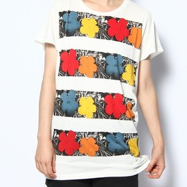 ANDY WARHOL BY HYSTERIC GLAMOUR  - FLOWERS BORDER pt T-SH