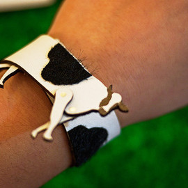 Designpopupshop - Handmade leather animal bracelet