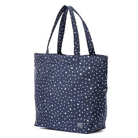 "HEAD PORTER - ""STELLAR (NEW)"" SHOPPING BAG (L) NAVY"