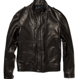 Simon Spurr - Panelled Leather Jacket